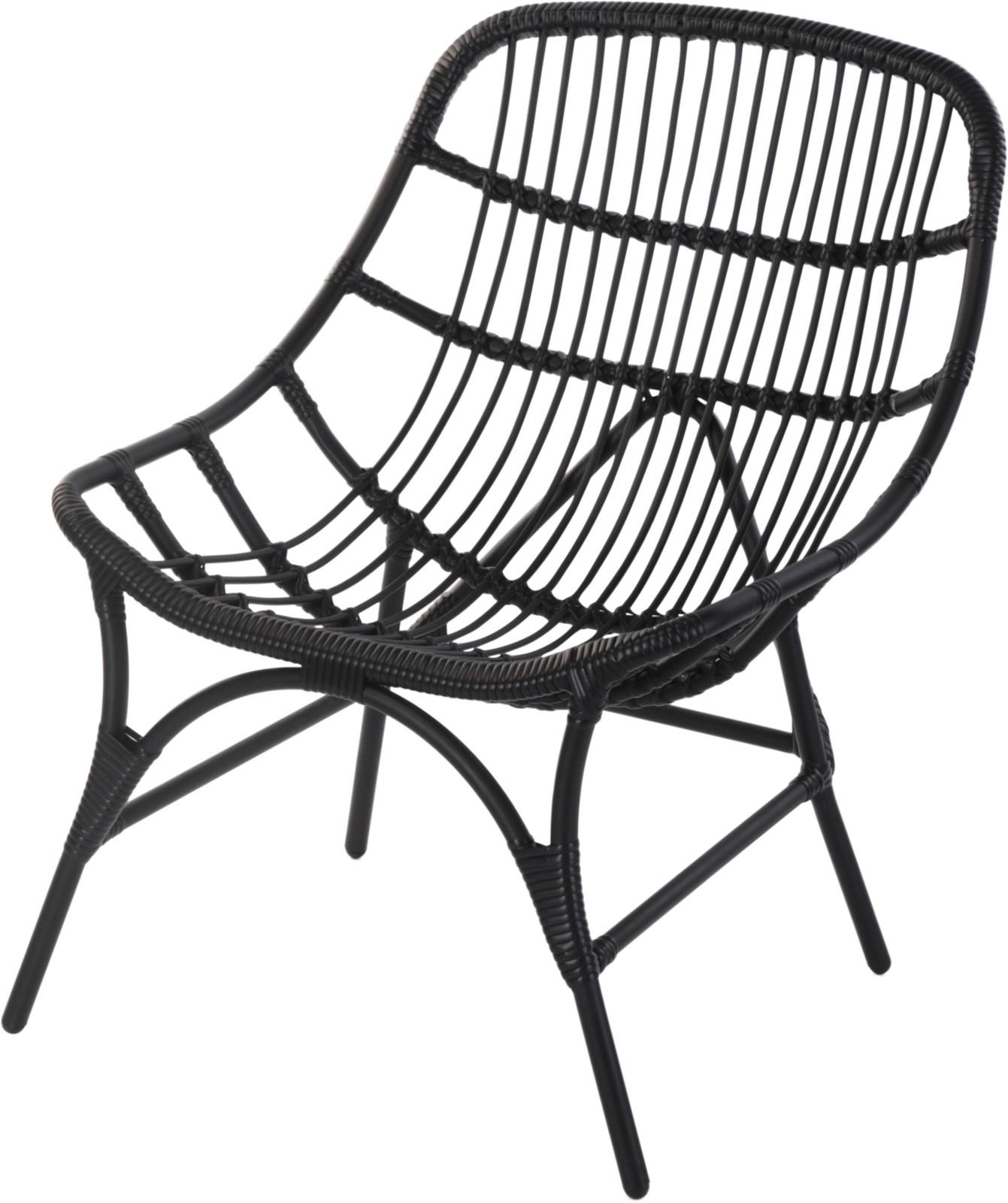Stoel Lounge Mat Zwart