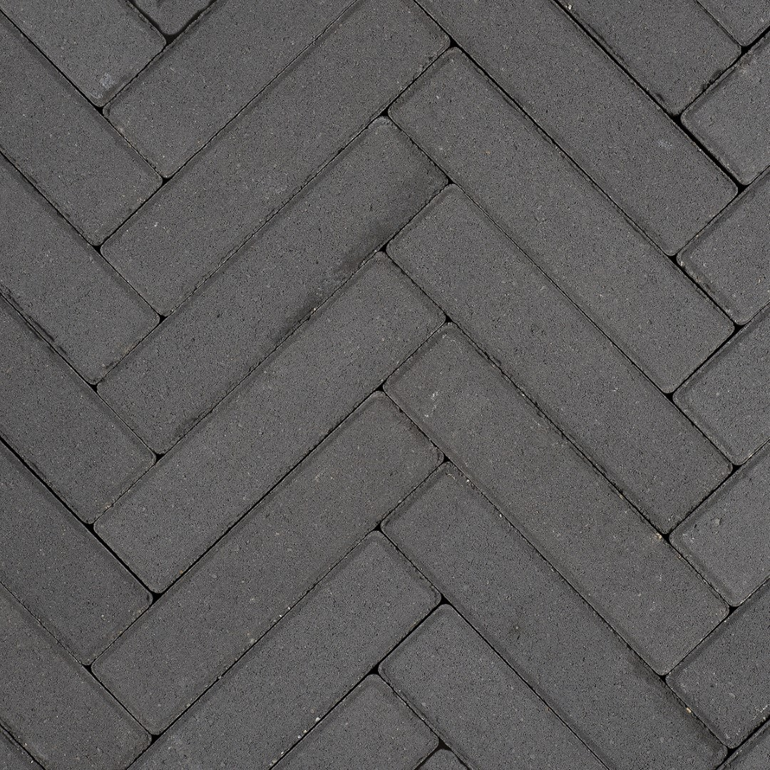 Minimaal 75! Sierbetonklinker Waalformaat 5x20x6cm zwart