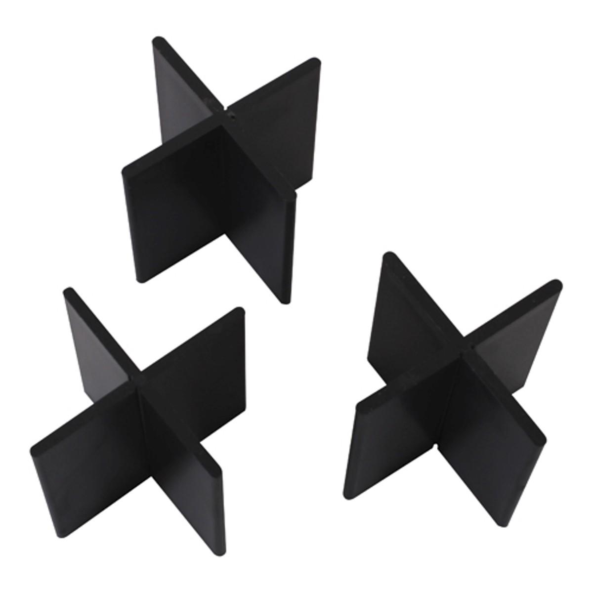 Voegkruis herbruikbaar zwart 3mm 50x55mm (100st.)