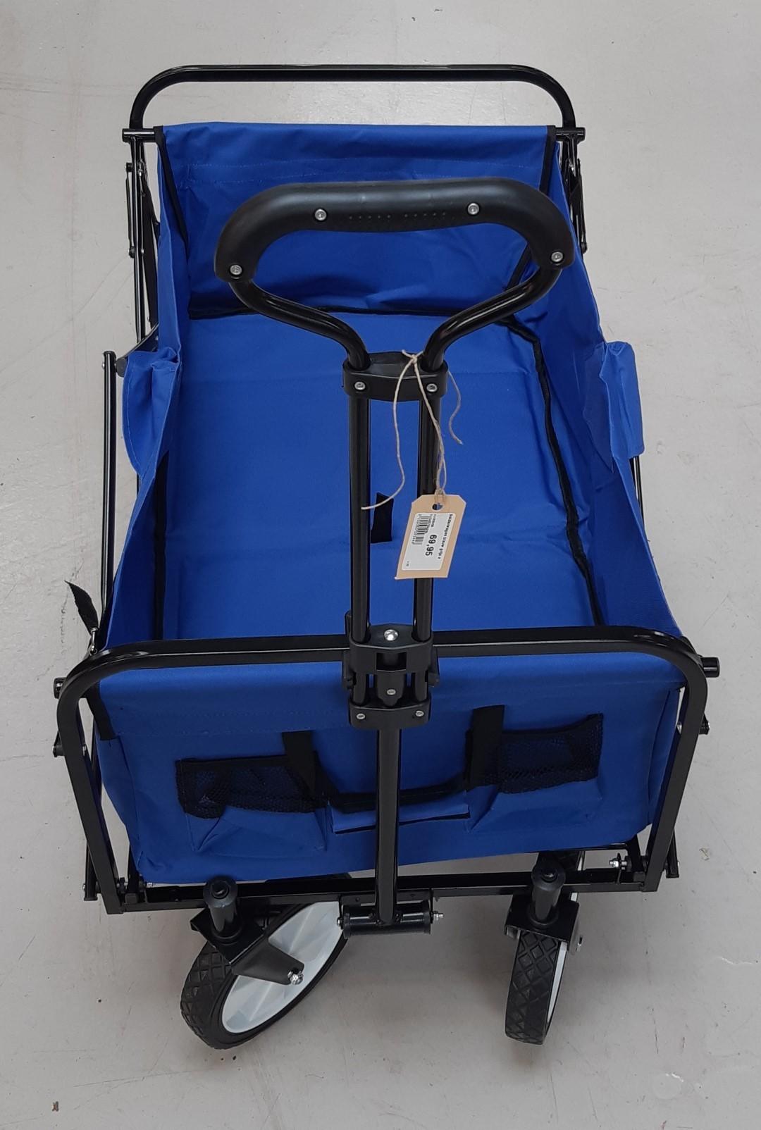 Bolderwagen blauw