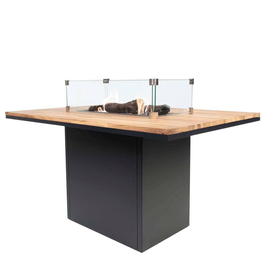 Cosiloft 120 relax dining table black frame/ teak top