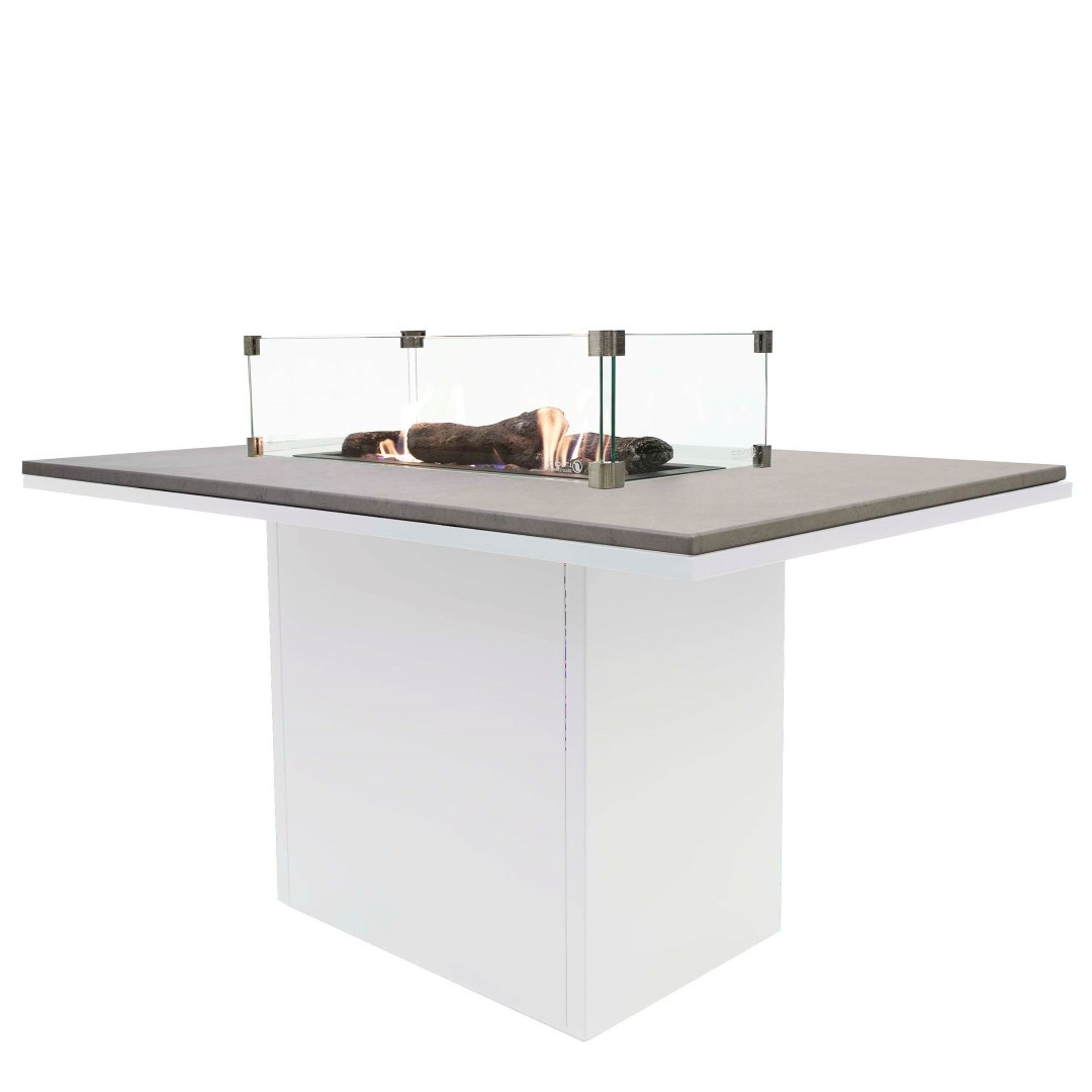 Cosiloft 120 relax dining table white frame - grey top