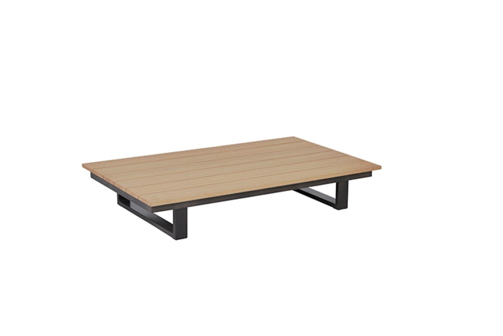 Margarita lounge tafel 140x80xH24 cm Vironwood vintage teak gunmetal