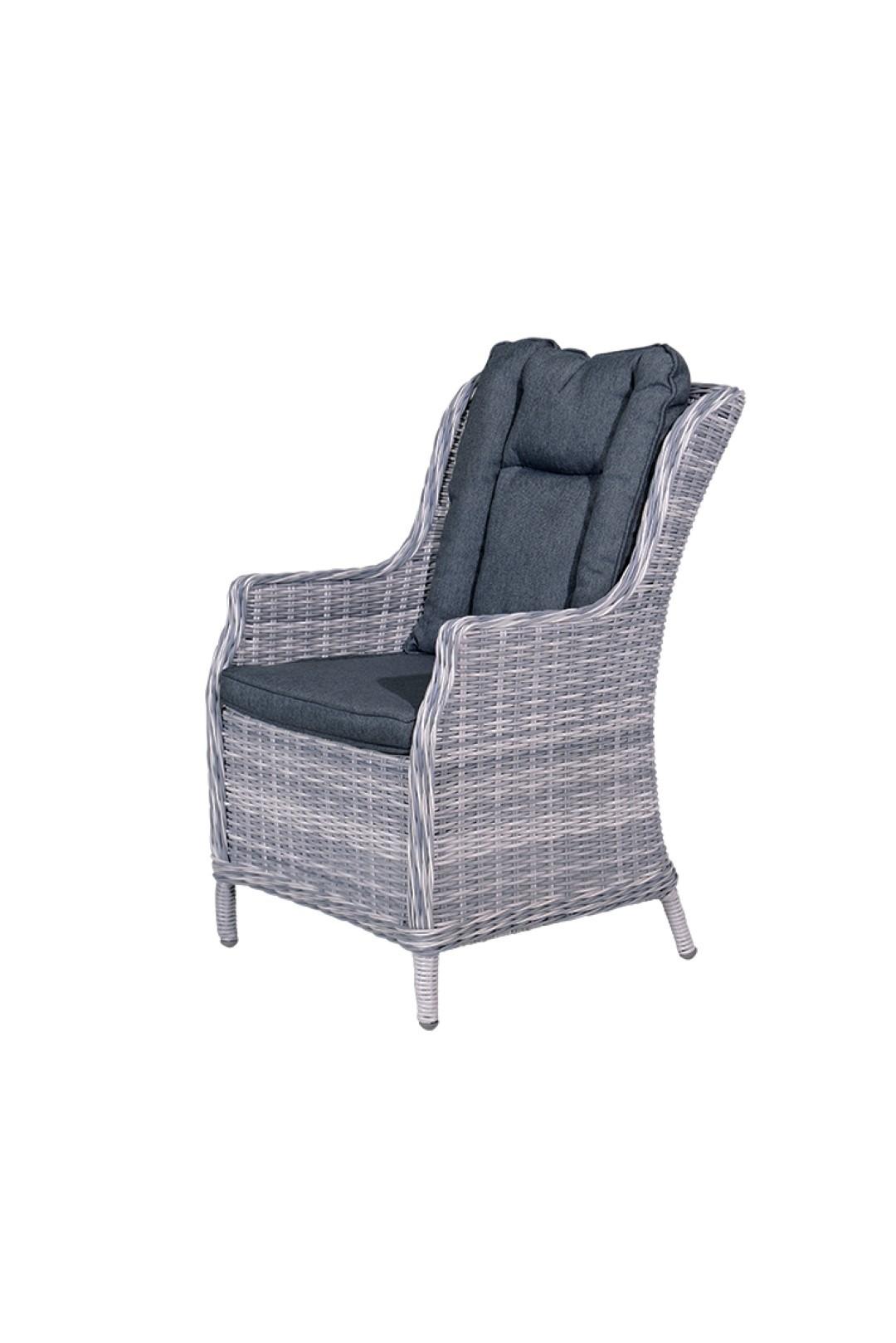 Osborne dining fauteuil cloudy grey 5 mm reflex black