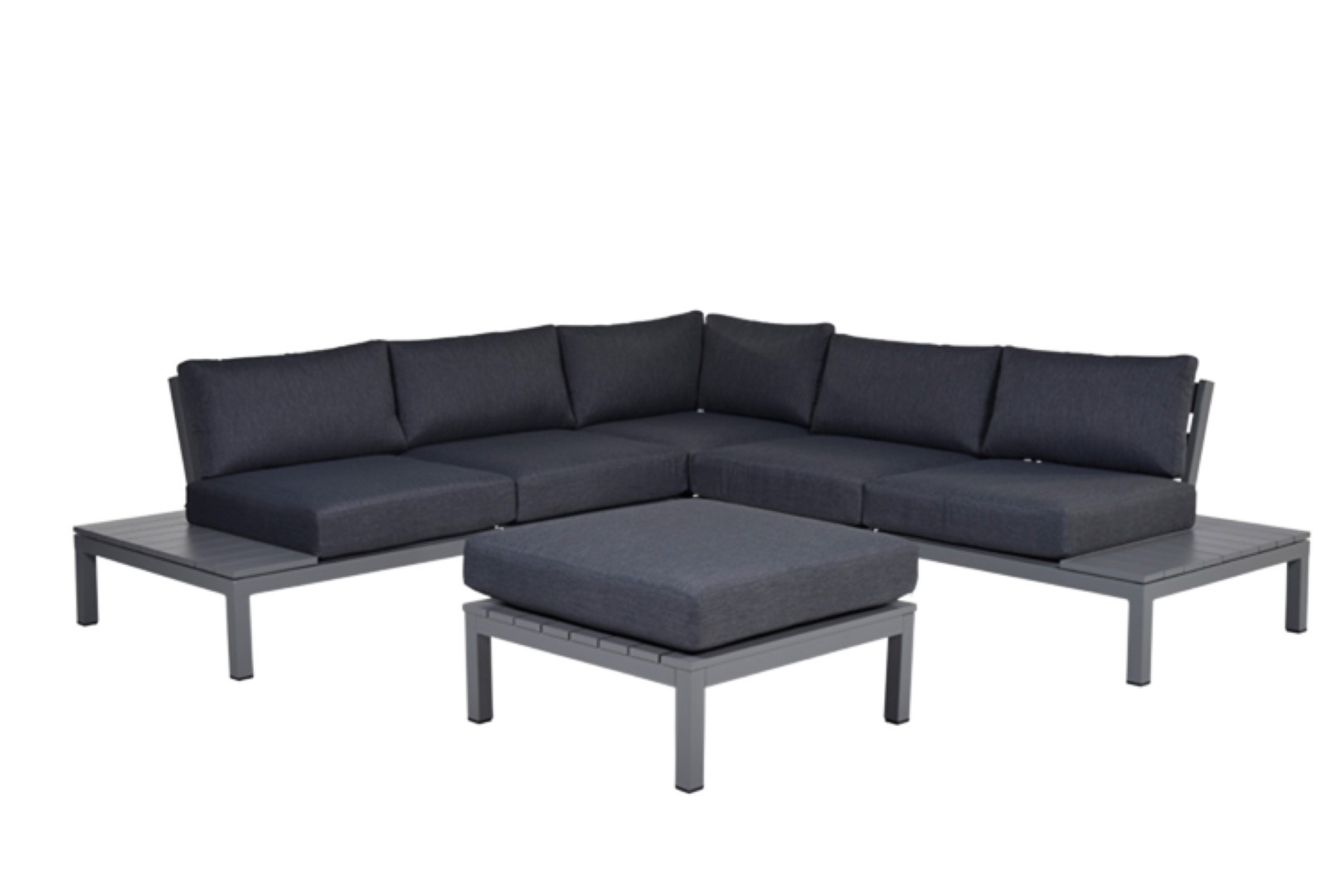 Annabella loungeset 4-delig arctic grey reflex black