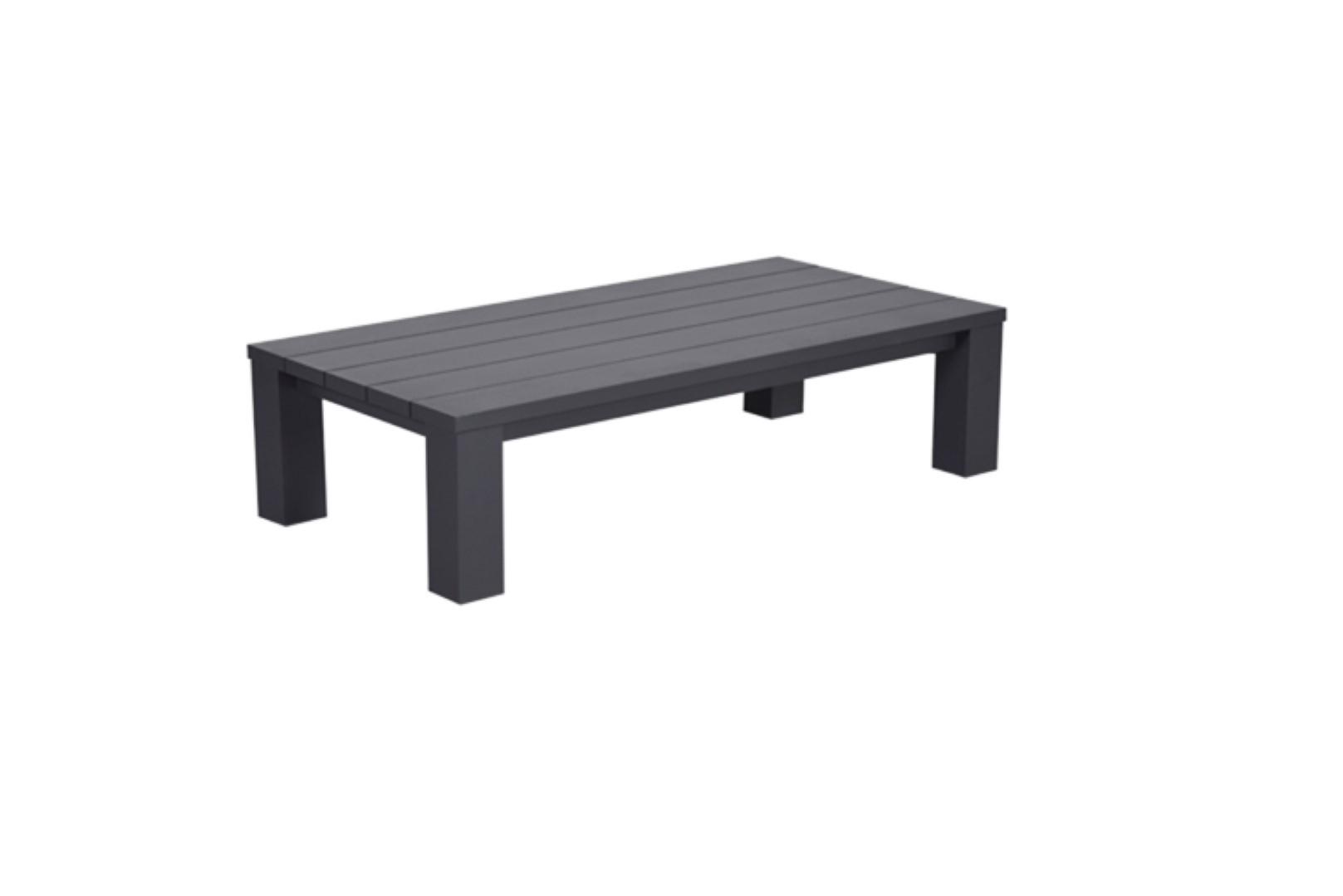 Cube lounge tafel 140x70xH40 cm carbon black