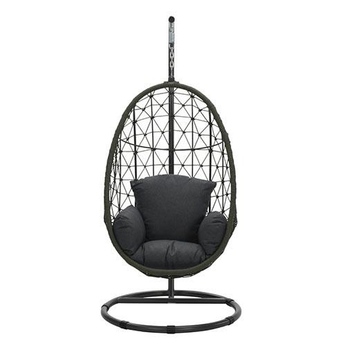 Panama Hangstoel Egg - Mosgroen/Black