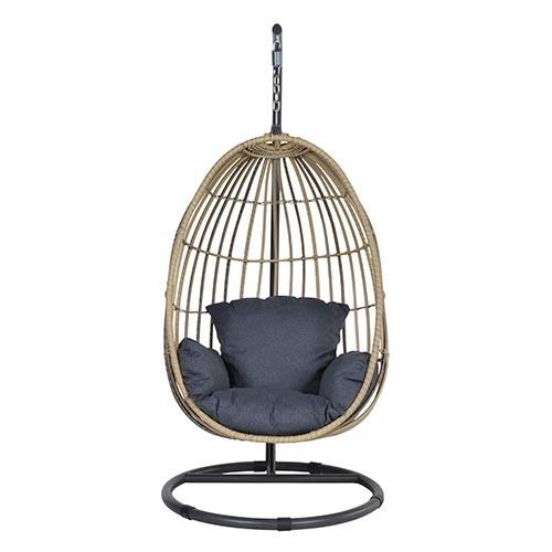 Panama Hangstoel Egg - Naturel/Black
