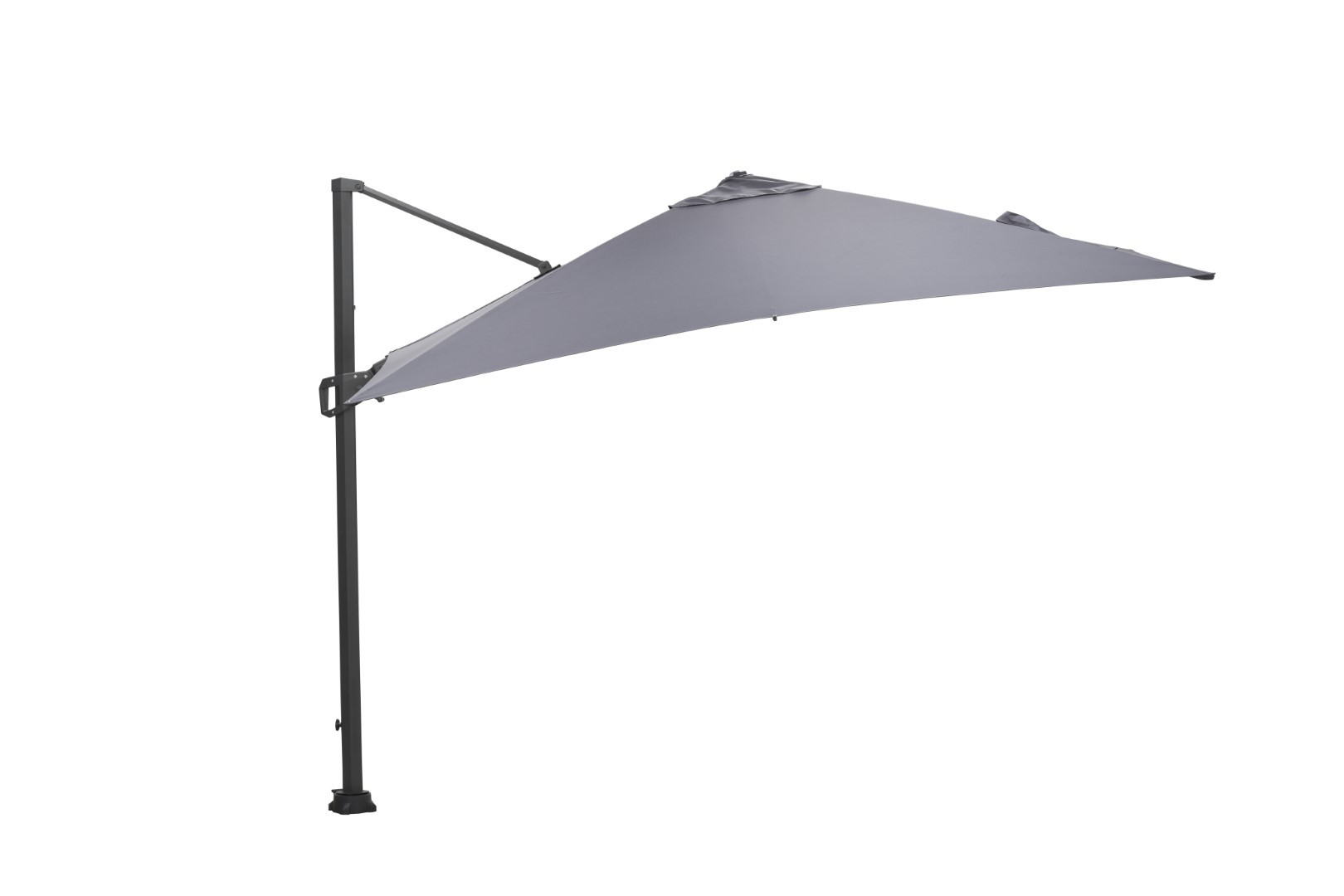 Hawaii parasol 300x300 carbon black/ licht grijs
