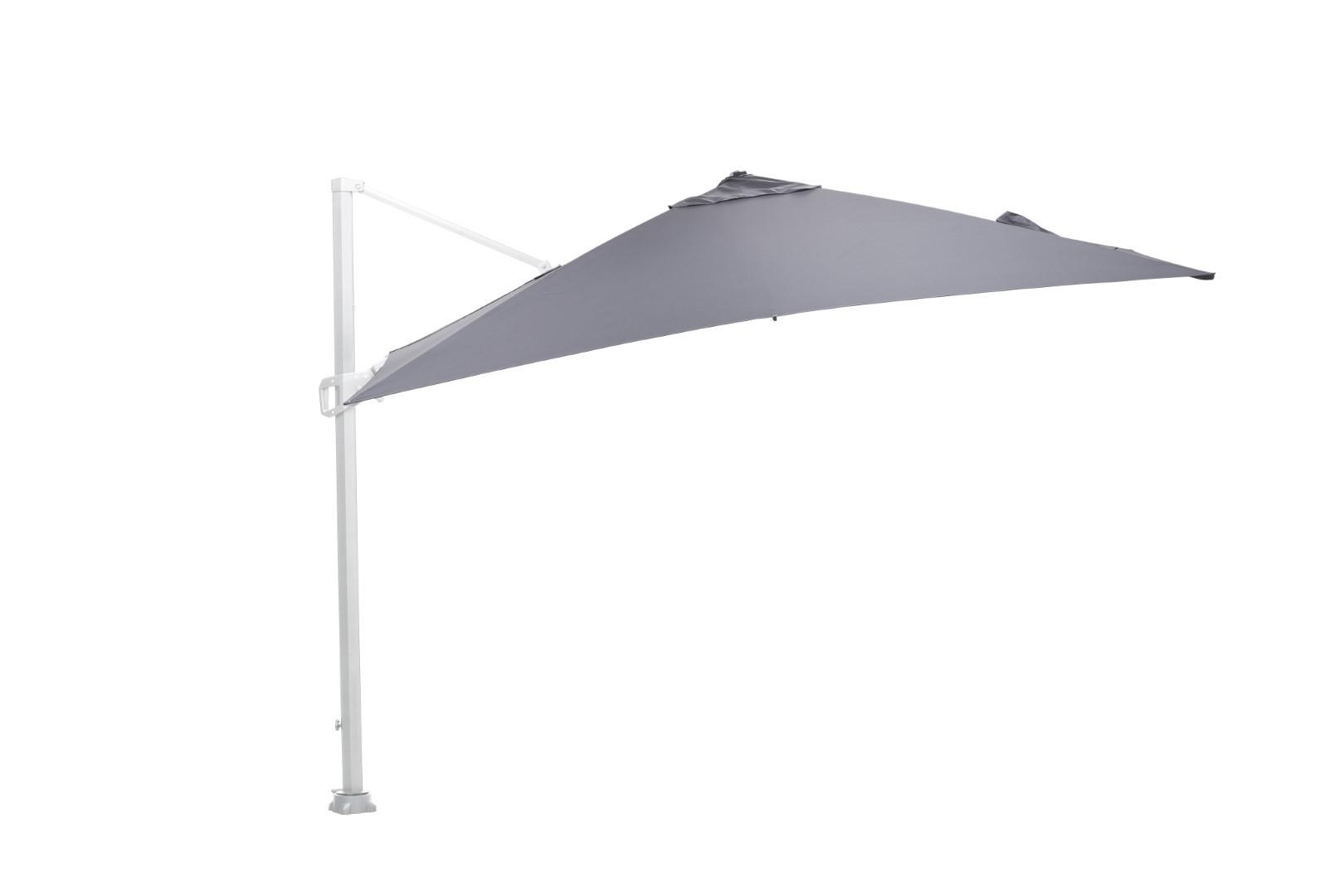 Hawaii parasol 300x300 wit/ licht grijs