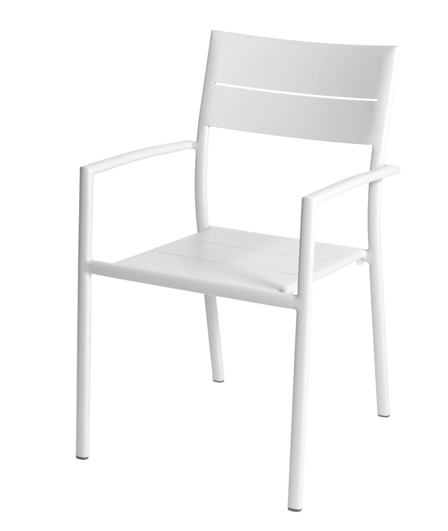 Grace stacking chair alu white