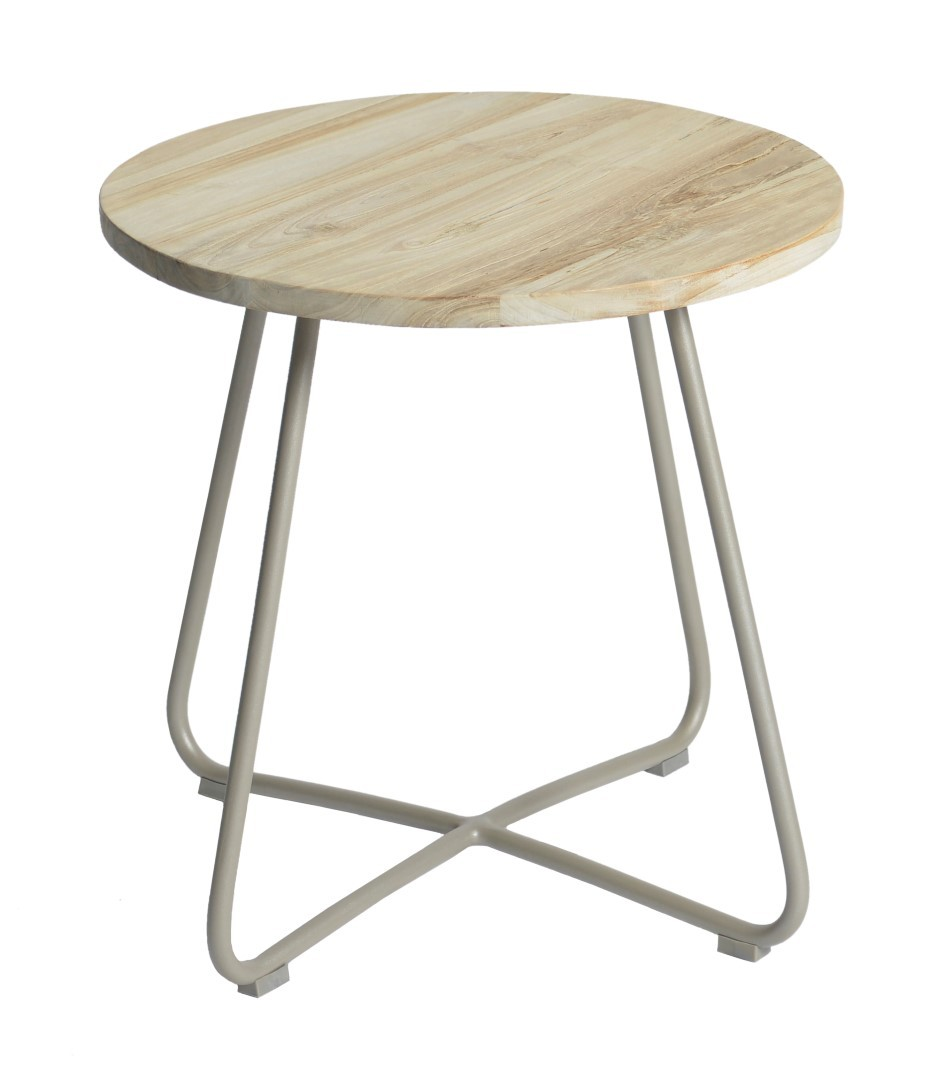 Lily side table diameter56,5x50 cm taupe