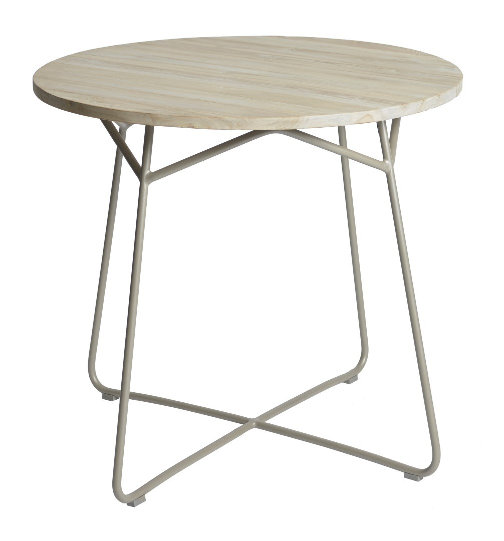 Lily table diameter95x74 cm taupe