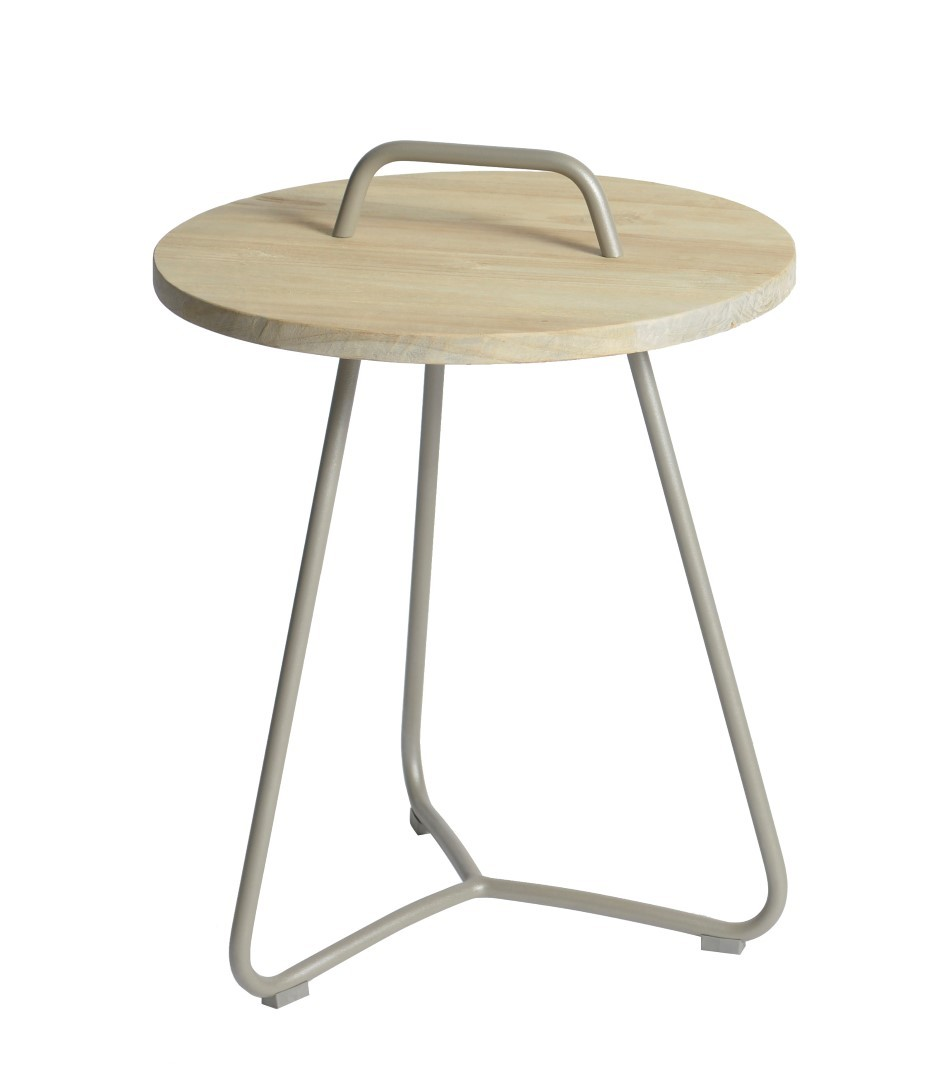 Ava side table diameter48,5x63 cm taupe