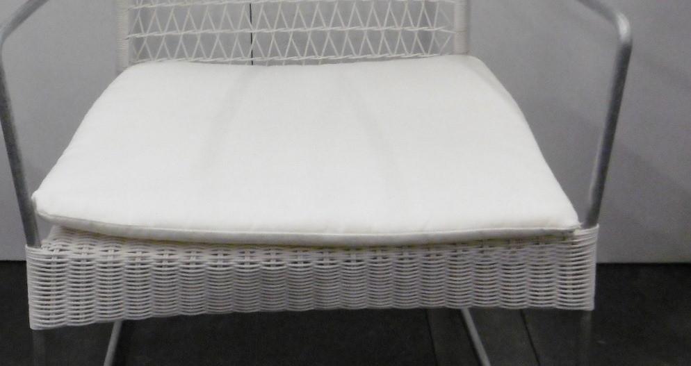 Cushion Grace stacking lounge chair alu white