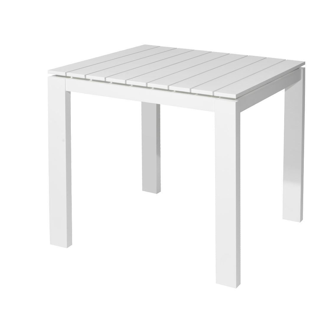 Morris table 80x80x75 cm alu white