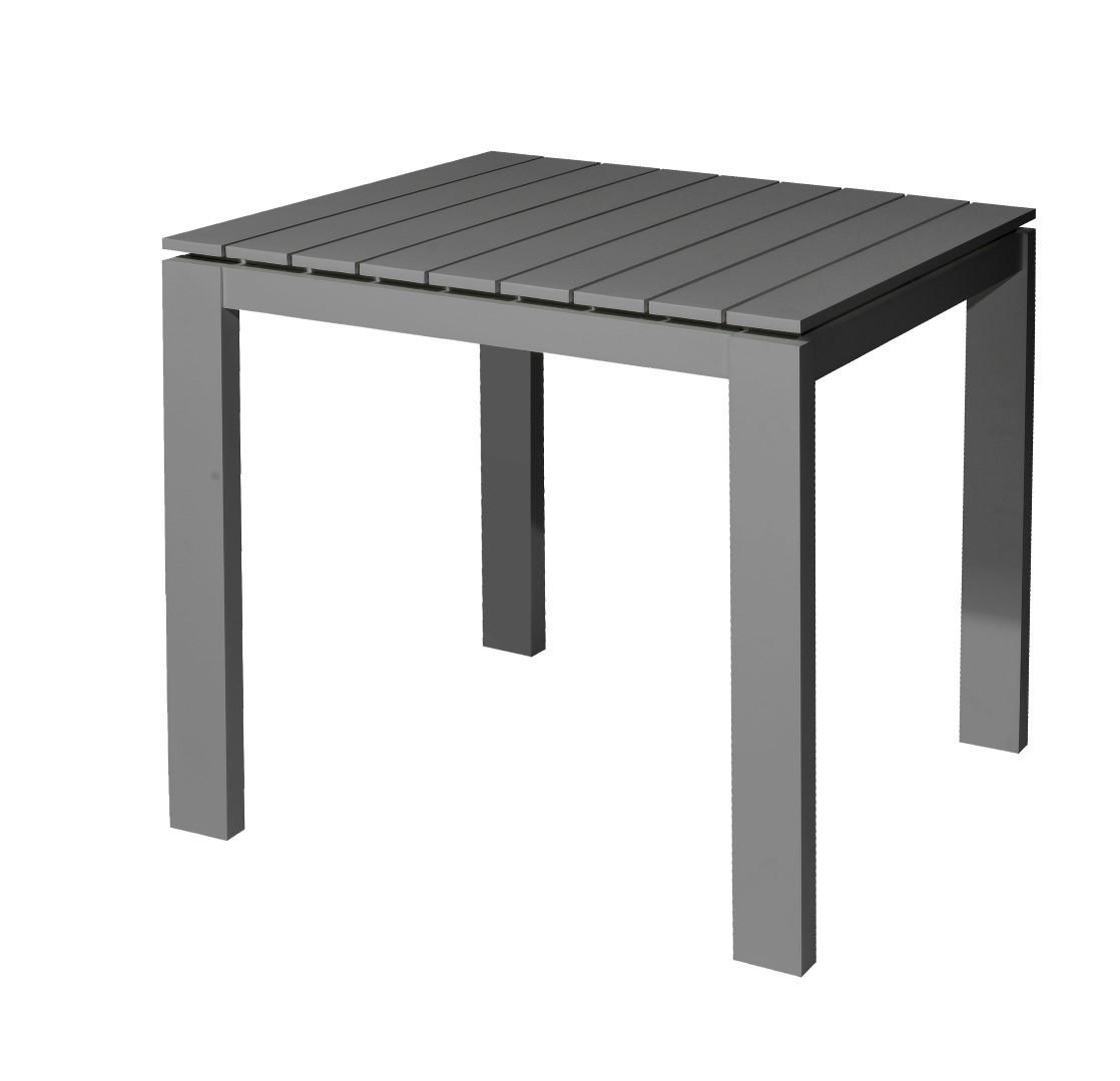 Morris table 80x80x75 cm alu anthracite
