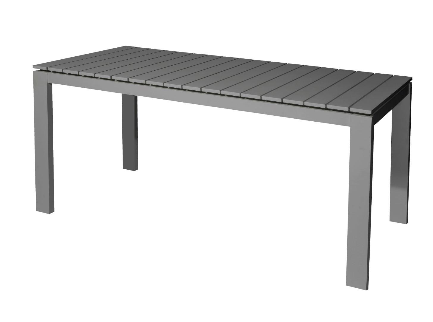 Morris table 160x80x75 cm alu anthracite