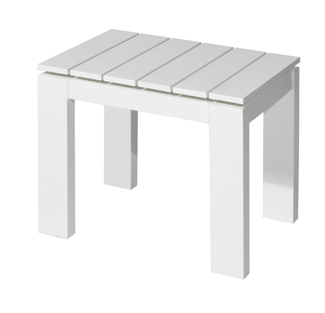 Morris side table 50x40 cm alu white