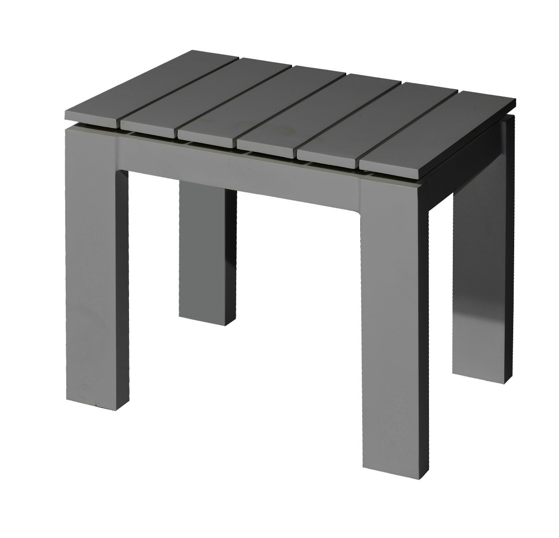 Morris side table 50x40 cm alu anthracite