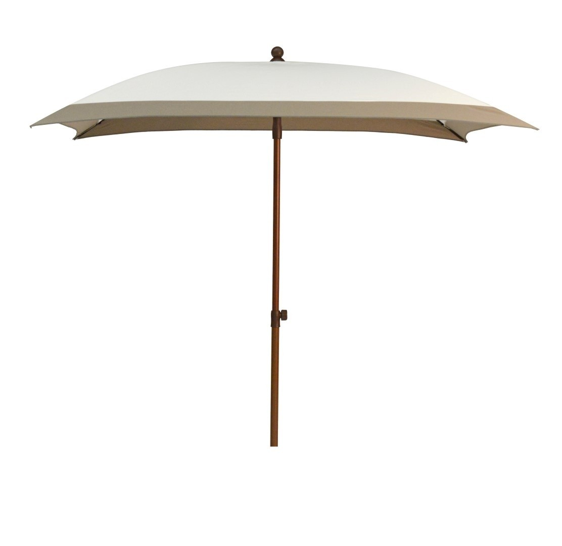 Beach parasol 200x200 wit taupe