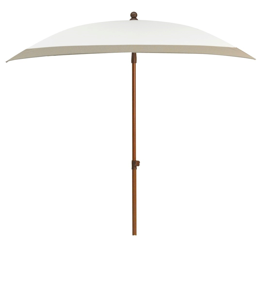 Beach parasol 240x150 wit taupe