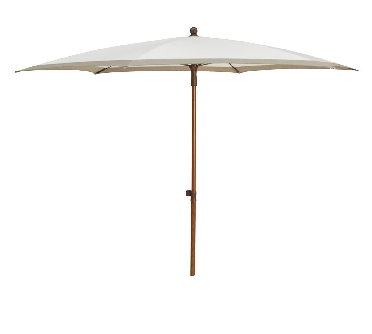 Beach parasol diameter 280cm wit taupe