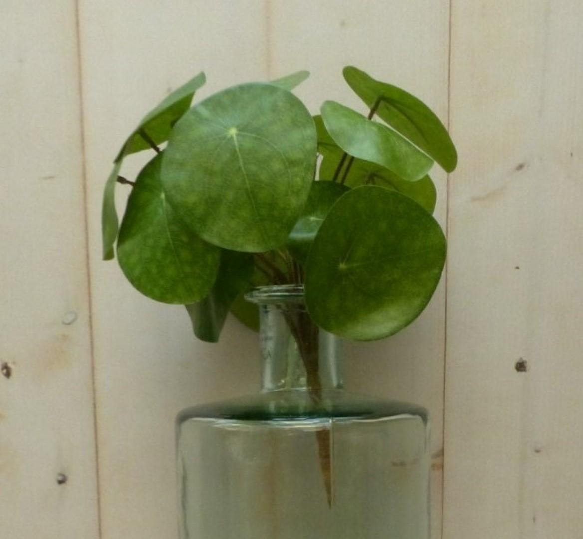 Kunstpannenkoekplant op steker 25 cm
