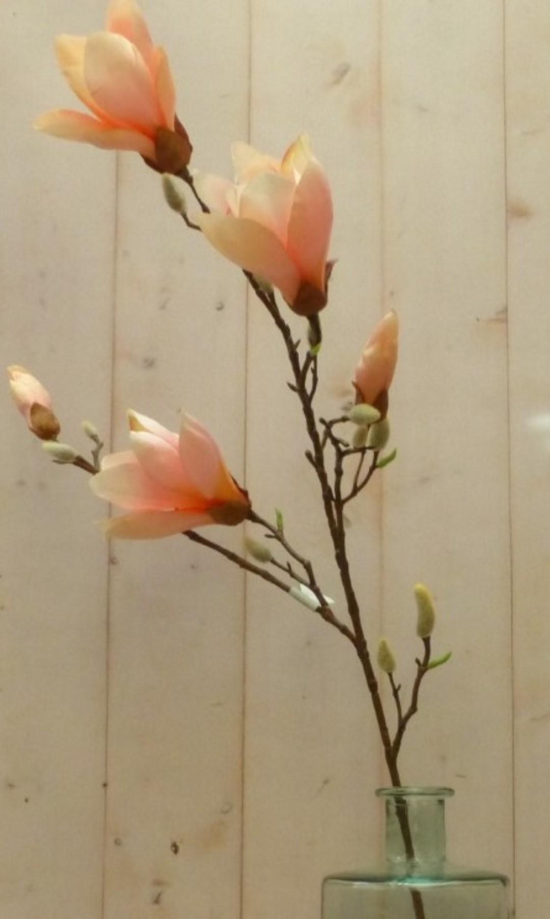 Kunstmagnolia tak groot met zijtakken roze