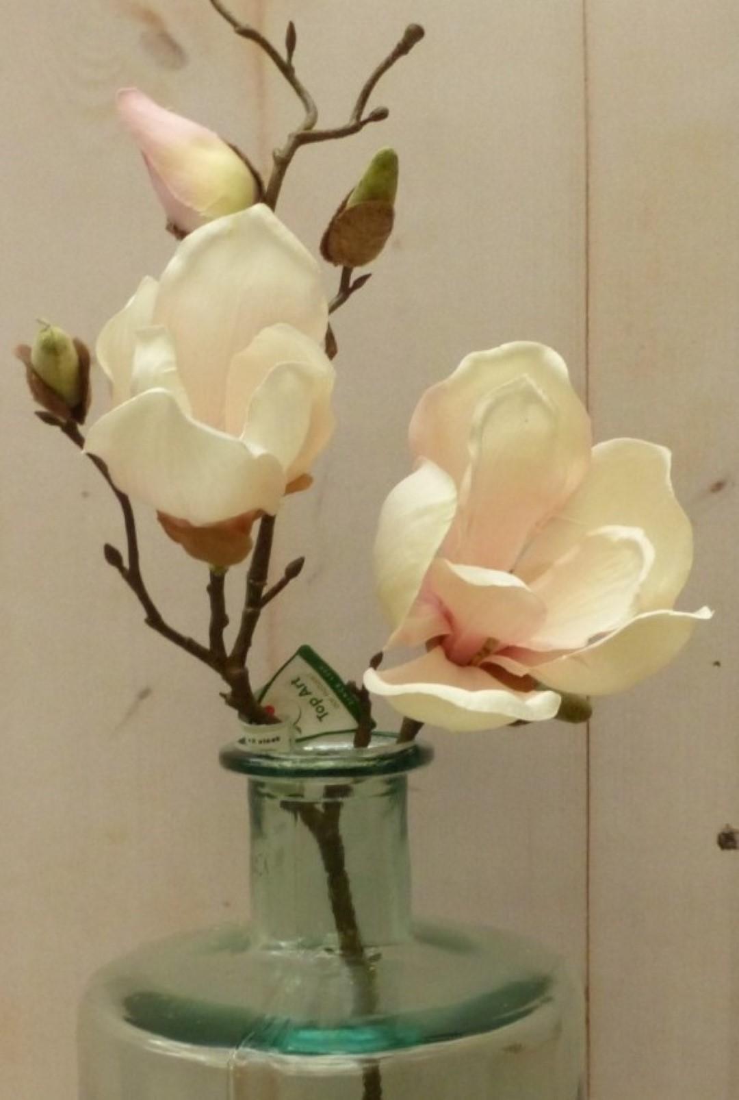 Kunstmagnolia tak klein met zijtakken roze