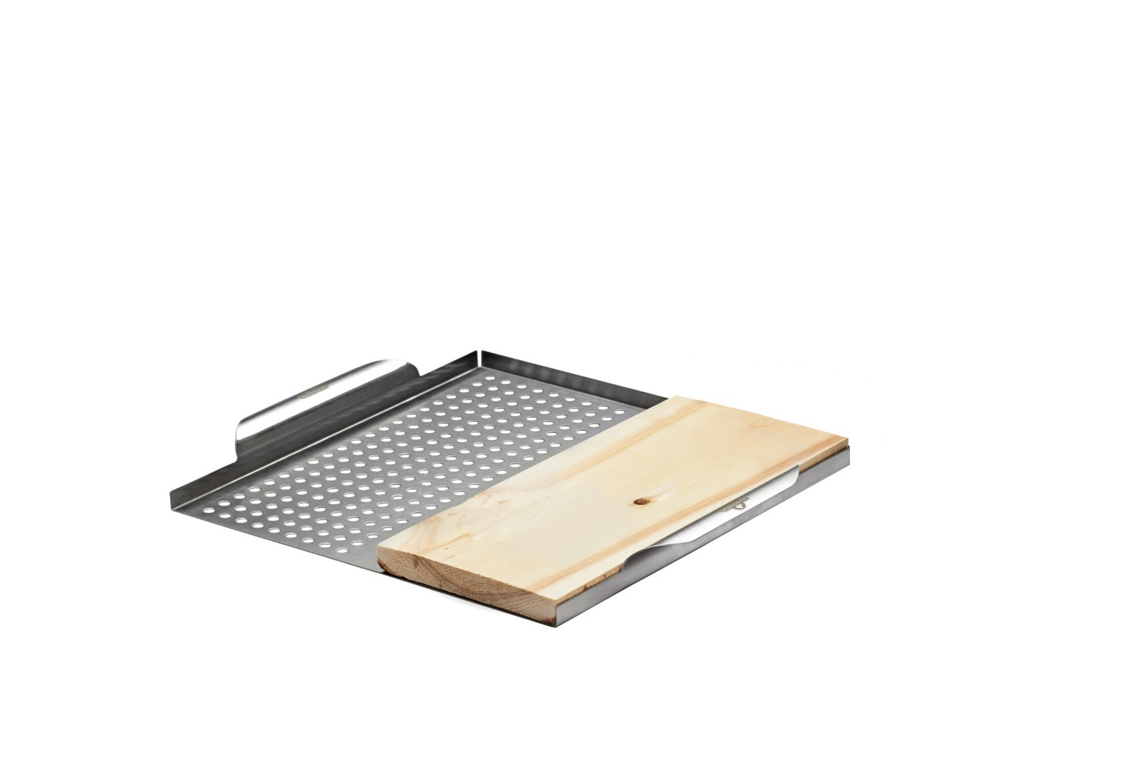 RVS groentekorf incl. cederhouten plank