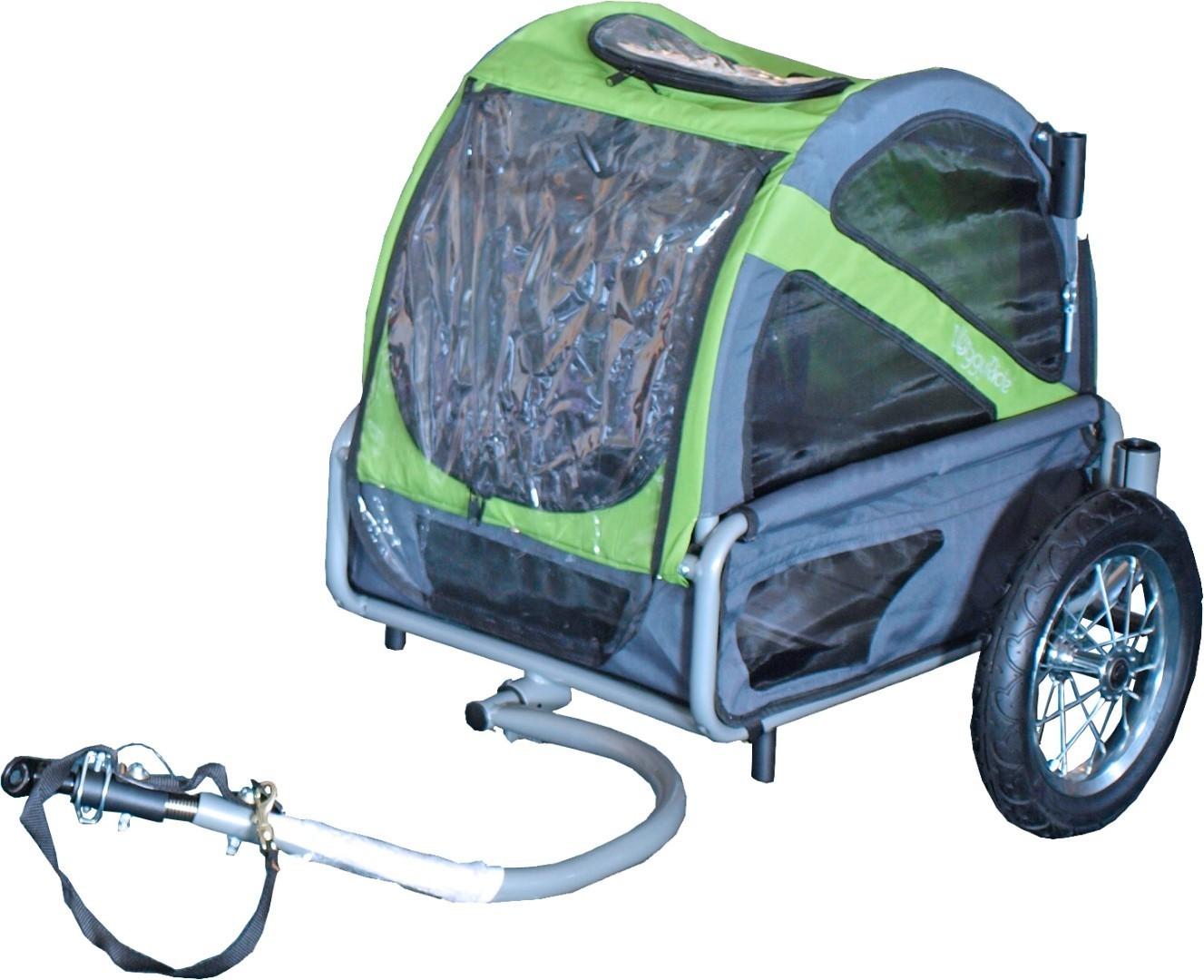 Doggy Ride fietskar Mini groen/grijs