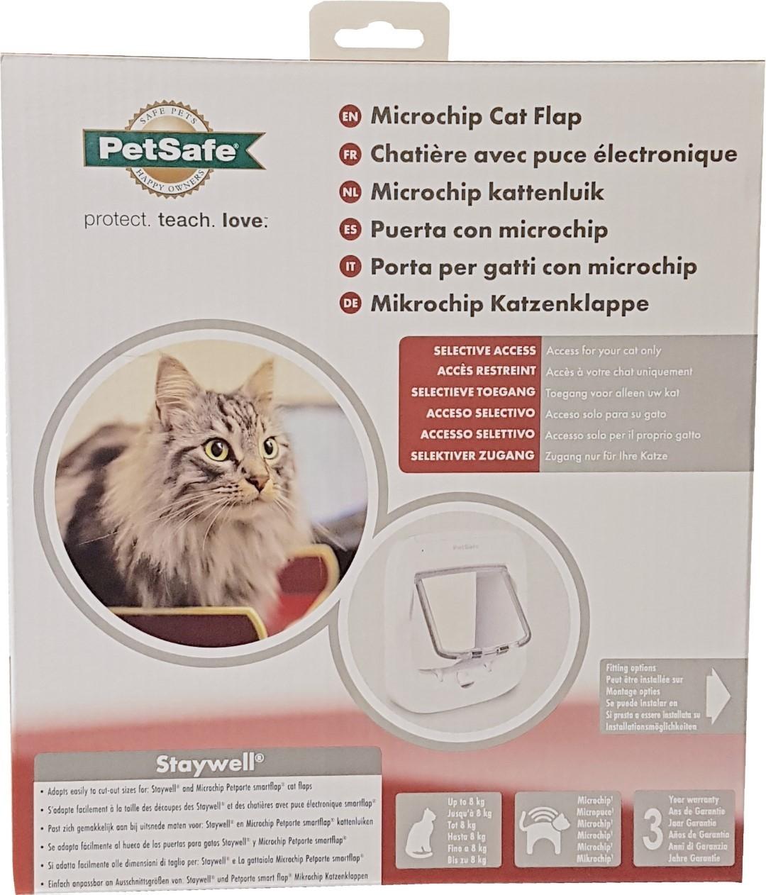 PetSafe microchip kattendeur wit PPA19-16145