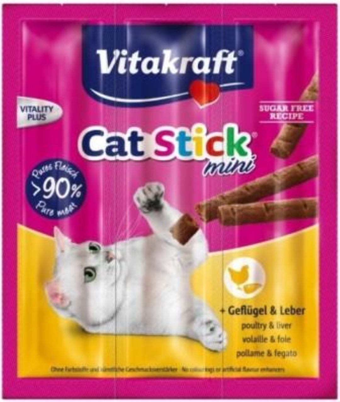Vitakraft Cat-Stick mini gevogelte & lever (Besteleenheid per 20)