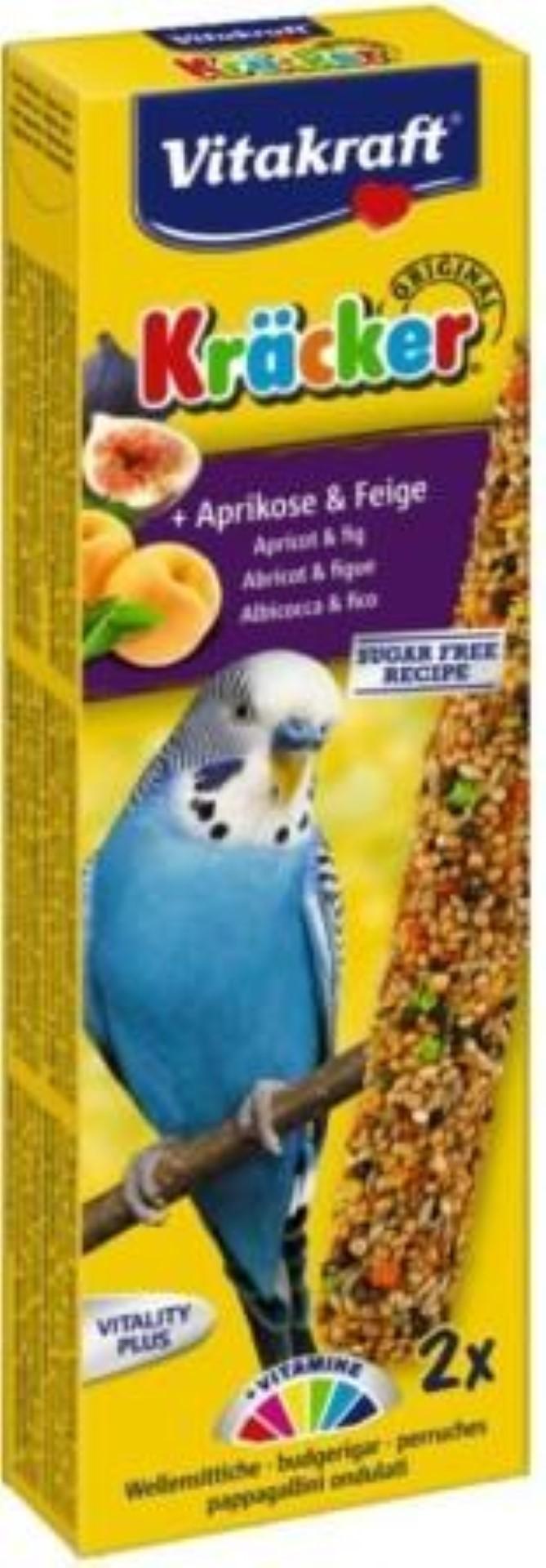 Vitakraft abrikoos/vijg-kracker parkiet 2in1