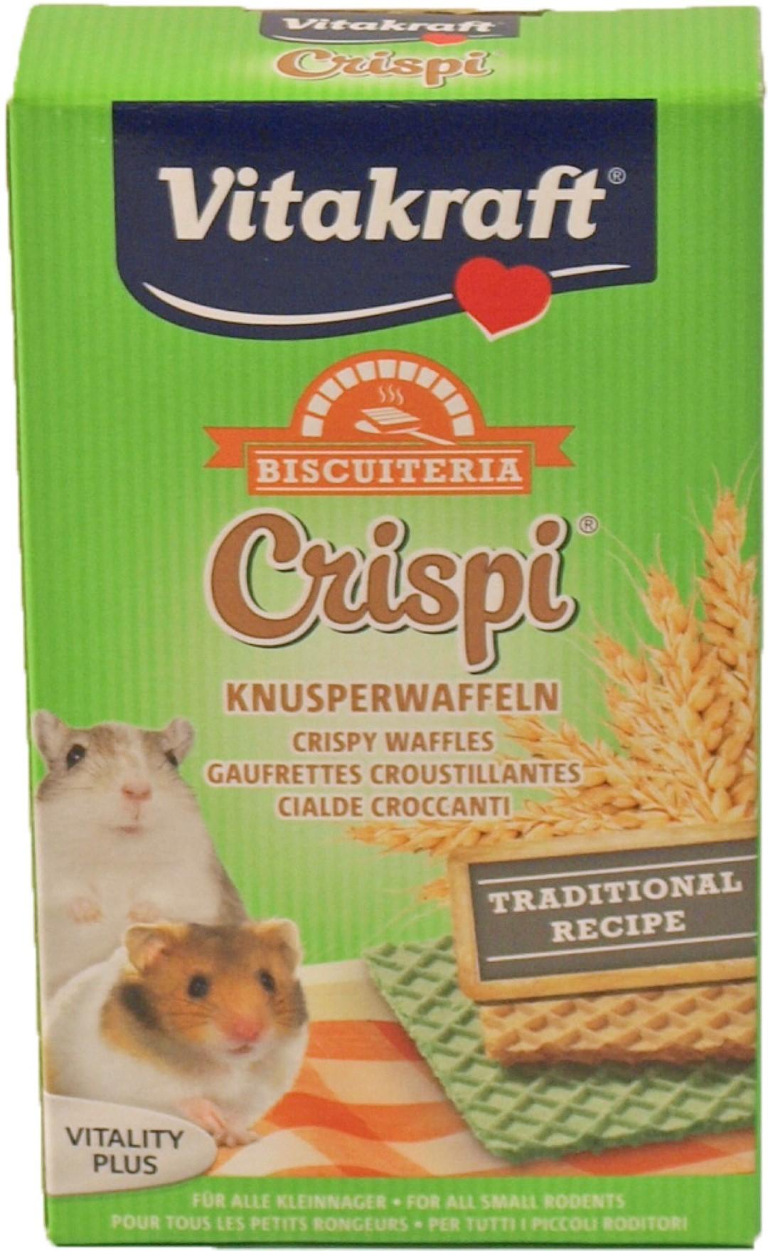 Vitakraft Crispi's wafeltjes hamster 12 stuks/10 gram