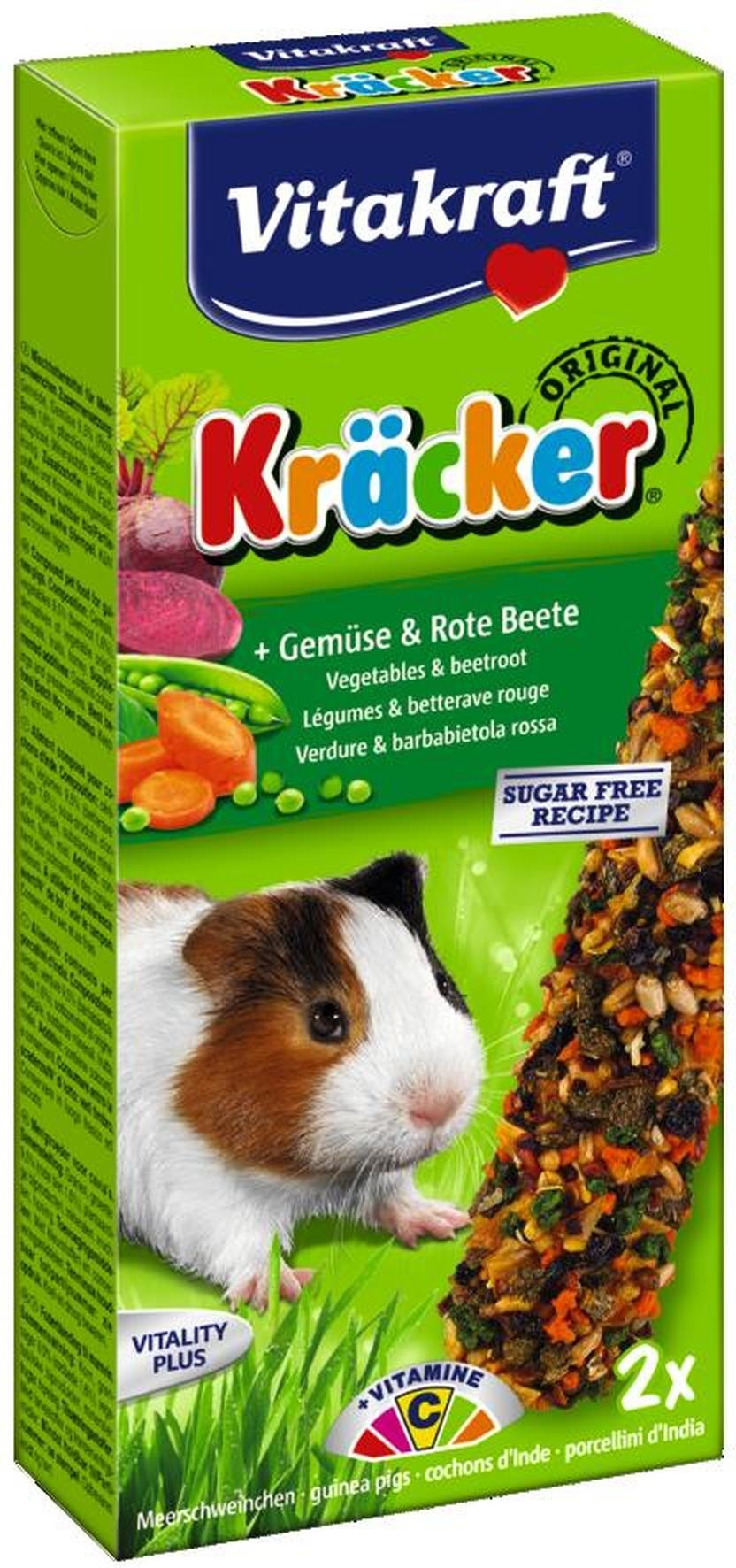 Vitakraft groente/biet-kracker cavia 2in1