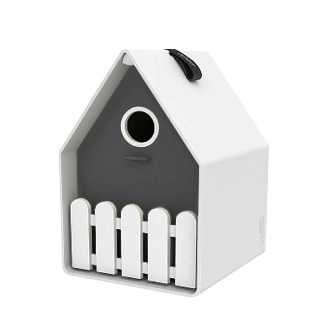Landhaus bird house wit/antraciet