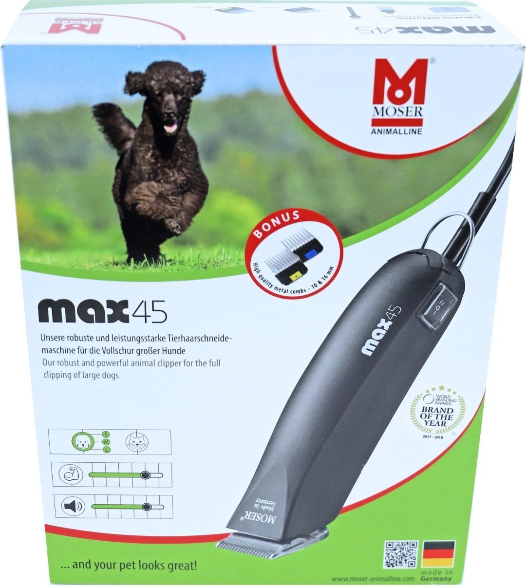 Moser tondeuse MAX 45 zwart