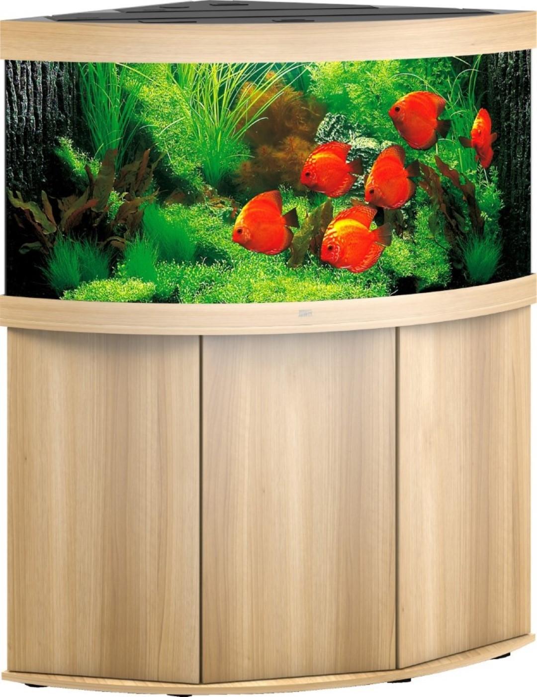 Juwel aquarium Trigon 350 LED met filter licht eiken
