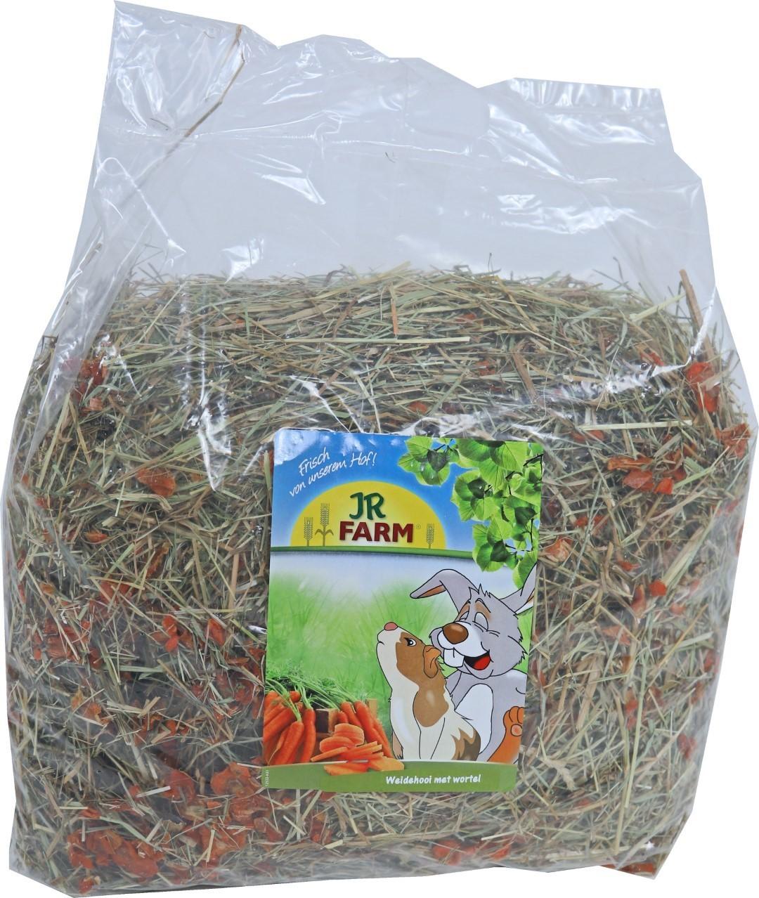 JR Farm knaagdier weidehooi met wortel 500 gram 05823