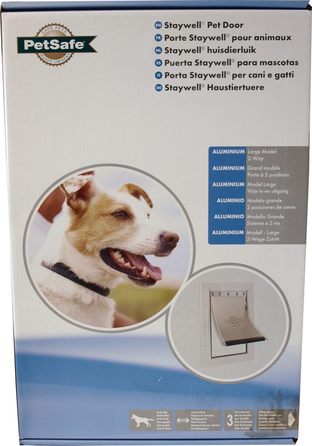PetSafe aluminium deur nr. 640 L wit/transparant