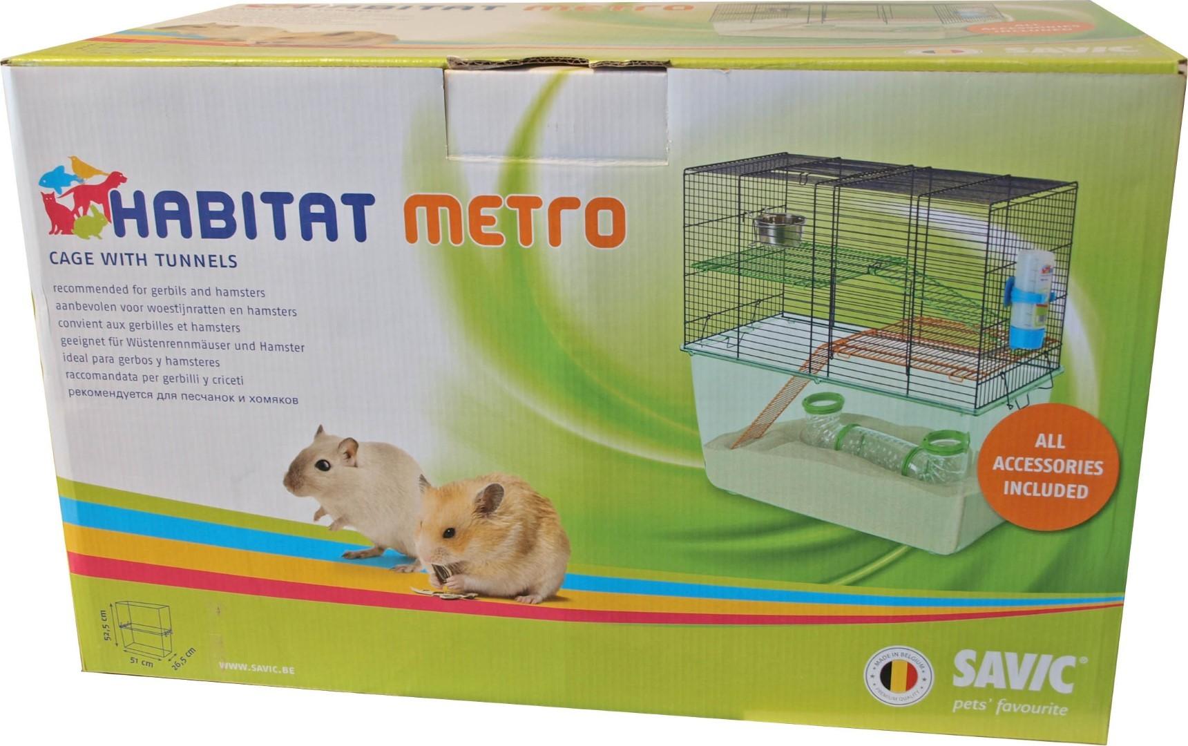 Savic Habitat metro gerbil-/hamsterset compleet