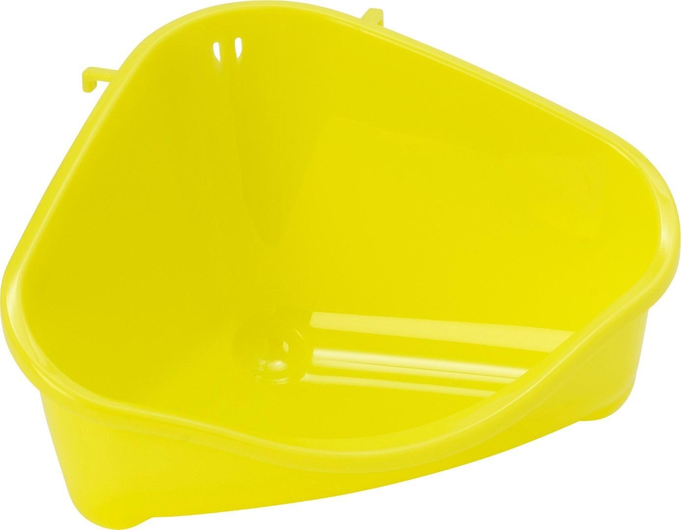 Moderna plastic klein knaagdiertoilet met haak yellow