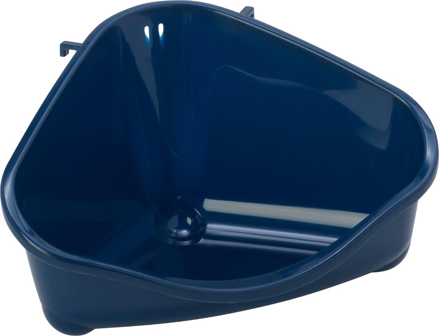 Moderna plastic klein knaagdiertoilet met haak blueberry