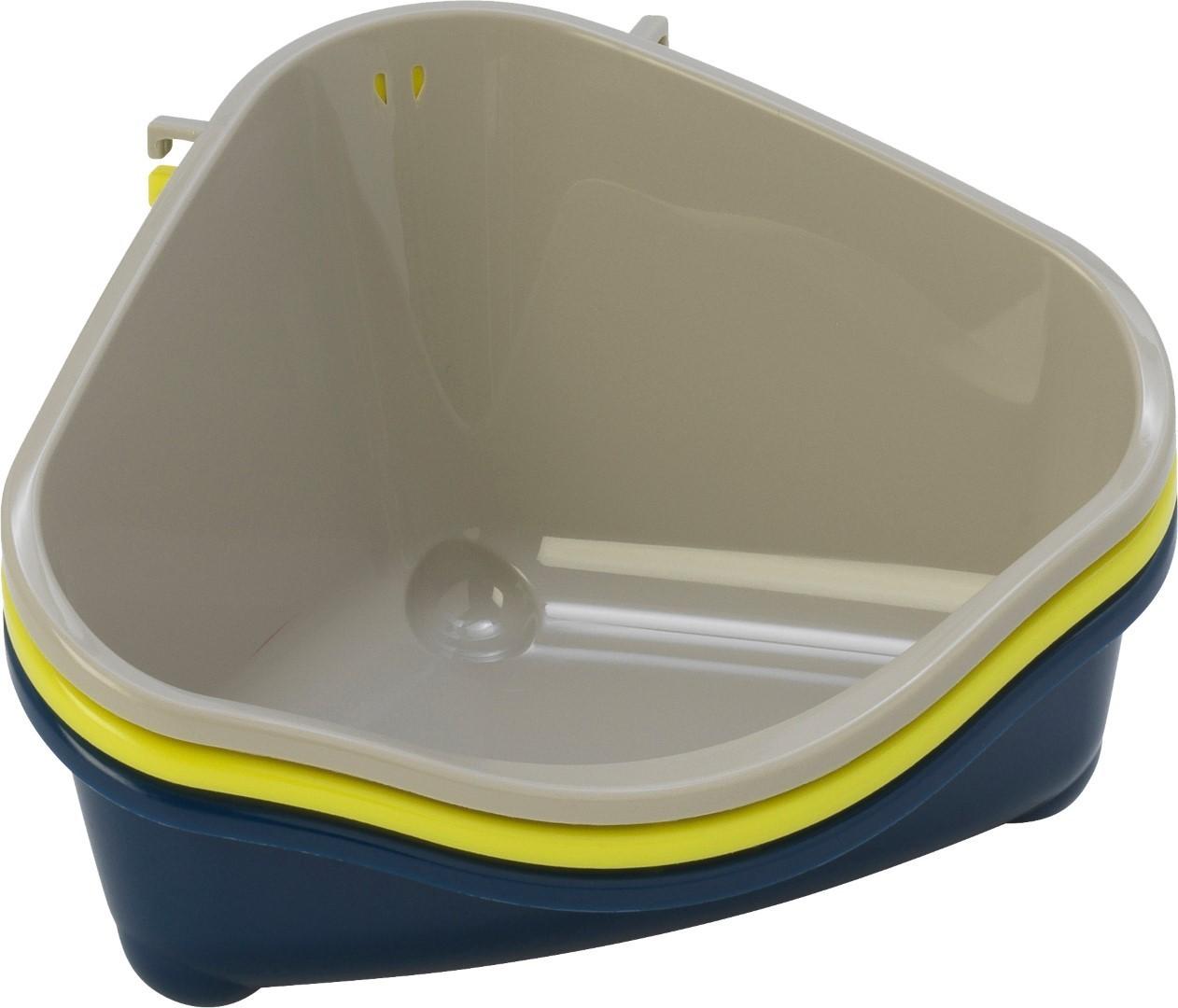 Moderna plastic klein knaagdiertoilet met haak warmgrijs