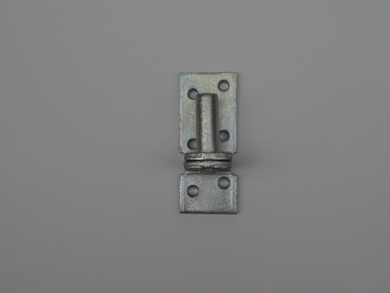 Duimhengen zwaar plaat 40x10 mm dikte 5 mm en diam. 16 mm