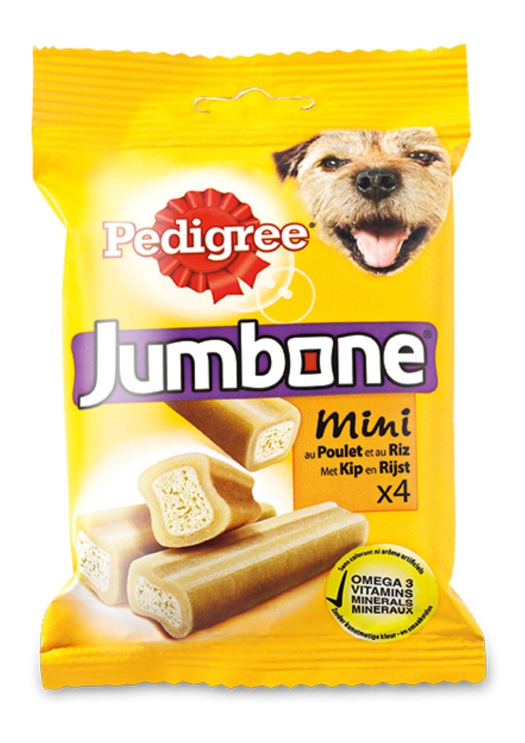 3 stuks! Hondenvoer Jumbone Mini Kip 4 stuks 180 g