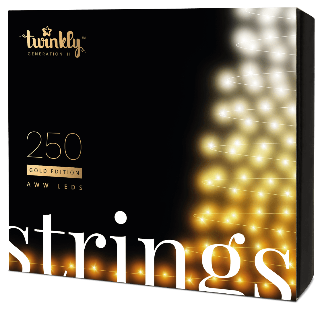 Twinkly Gold Edition - 250 AWW LEDs Lights String - Generation II