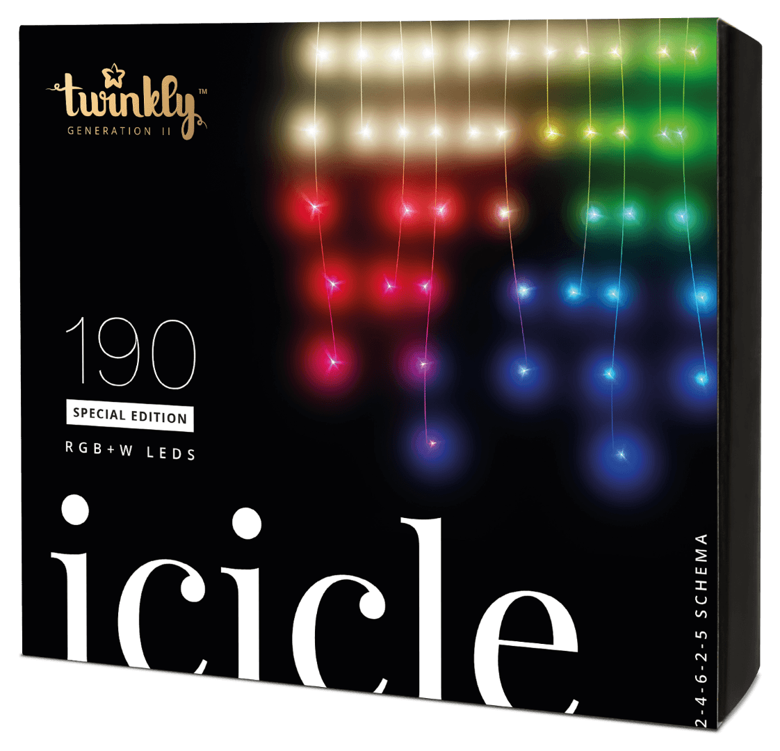 Twinkly 190 RGB W LEDs Icicle Lights - Generation II